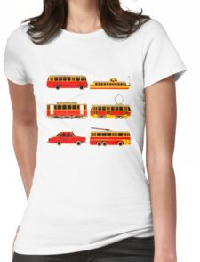 Retro transports Womens Fitted T-Shirt