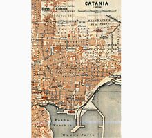 Vintage Map of Catania Italy (1905) Unisex T-Shirt
