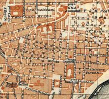 Vintage Map of Catania Italy (1905) Sticker