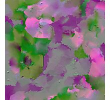 Raw Paint - Purple And Green Photographic Print