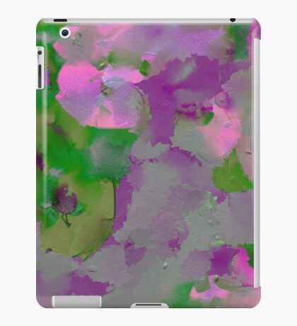 Raw Paint - Purple And Green iPad Case/Skin