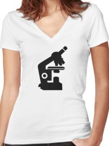 Microscope Women's Fitted V-Neck T-Shirt