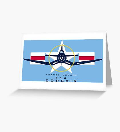 F4U Corsair Warbird Graphic1 Greeting Card