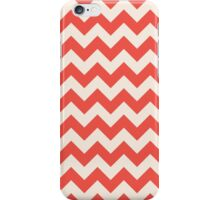 Beautiful Chevron pattern red hot retro iPhone Case/Skin