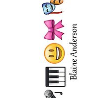 Blaine Anderson in Emoticons by bethlehurst