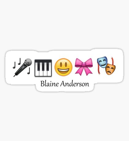 Blaine Anderson in Emoticons Sticker