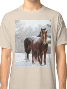 Horses in the Snow Classic T-Shirt