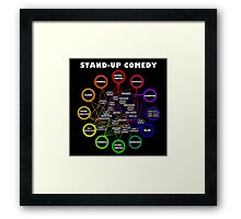 Comedy Chart Framed Print