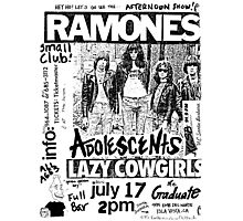 Old Punk Flyer Photographic Print