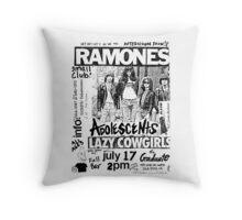 Old Punk Flyer Throw Pillow