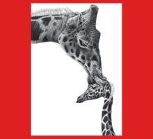 Giraffe and Calf One Piece - Short Sleeve