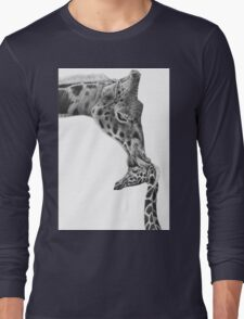 Giraffe and Calf Long Sleeve T-Shirt