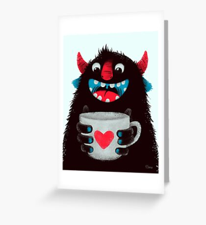 Demon with cup Greeting Card