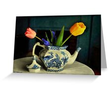 Tulip Teapot Greeting Card