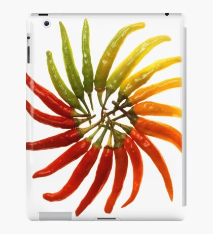 Charleston Hot Peppers Color Wheel iPad Case/Skin