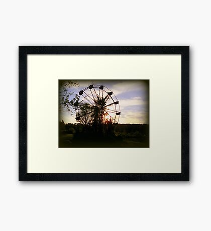 Wheel In The Sky Framed Print