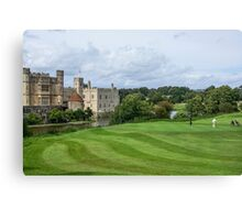 Putting at Leeds Castle Golf Course Canvas Print