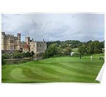 Putting at Leeds Castle Golf Course Poster