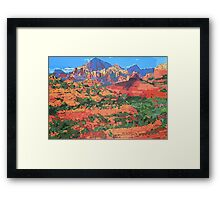 Sedona Arizona Red Rock Painting Framed Print