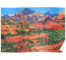 Sedona Arizona Red Rock Painting Poster