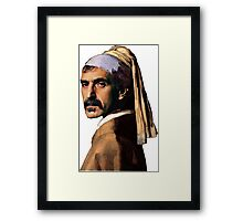 Frank Zappa - Girl with a Pearl Earring Framed Print