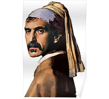 Frank Zappa - Girl with a Pearl Earring Poster
