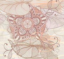 Soft lily background by Patternalized