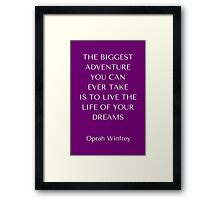 The Biggest Adventure Framed Print