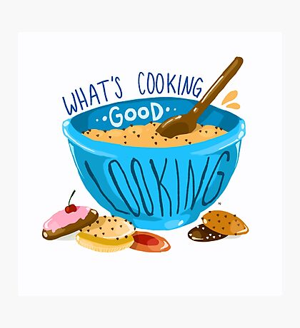 What's cooking, good looking?  Photographic Print