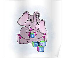 Elephant I Love U  Poster