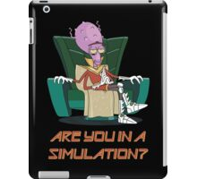 Rick and Morty – Are You in a Simulation? iPad Case/Skin