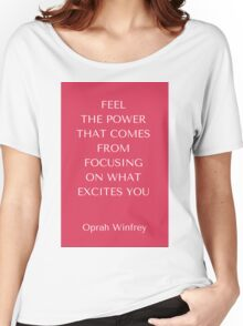Feel the Power Women's Relaxed Fit T-Shirt