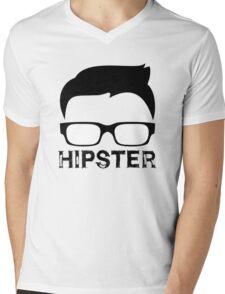 Cool Retro Hipster Glasses Design Mens V-Neck T-Shirt