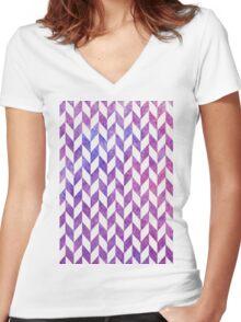 Purple Diamonds Women's Fitted V-Neck T-Shirt