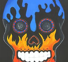 Sugar Skull Elements- Fire and Water by ArniesArt