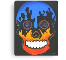 Sugar Skull Elements- Fire and Water Canvas Print