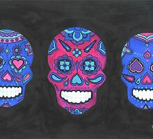 Sugar Skull- Three Amigos by Annika Thurgood