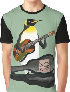 Penguin Busking Graphic T-Shirt