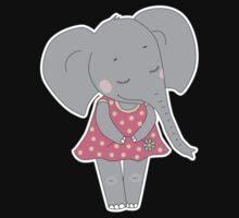Cute elephant girl Kids Tee