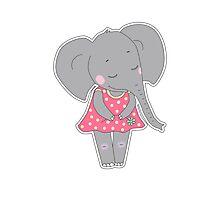 Cute elephant girl Photographic Print