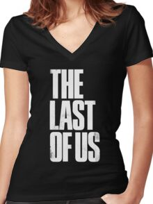the last of us Women's Fitted V-Neck T-Shirt
