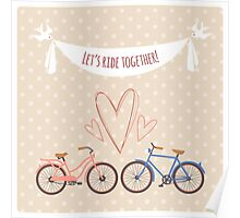 Bike lovers. Poster
