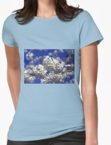 Cherry Tree Blossoms Womens Fitted T-Shirt