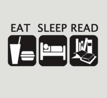 Eat, sleep, read by caramorgan
