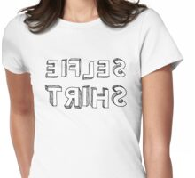 Funny Cartoon Style Text Selfie Design  Womens Fitted T-Shirt