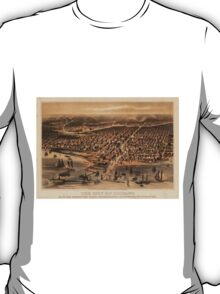 Vintage Pictorial Map of Chicago (1871) T-Shirt