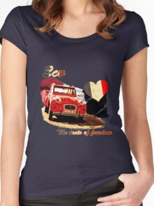 2cv the taste of freedom Women's Fitted Scoop T-Shirt
