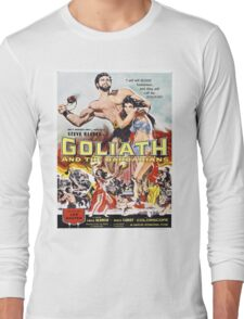 Vintage poster - Goliath and the Barbarians Long Sleeve T-Shirt