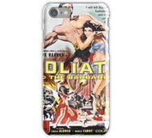 Vintage poster - Goliath and the Barbarians iPhone Case/Skin