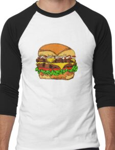 Fat Cheeseburger Men's Baseball ¾ T-Shirt
